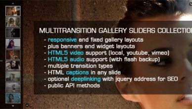 jQuery MultiTransition Gallery Sliders Collection