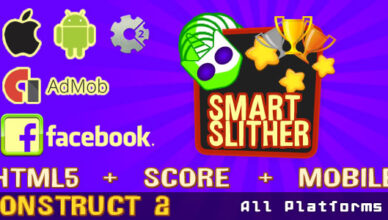 Smart Slither (Admob Ads pris en charge et FaceBook)