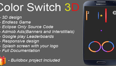 Color switch 3D + Buildbox project included